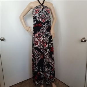 White House Black Market Halter Maxi Dress Small